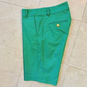 Fairway Fox green/white Made in USA golf shorts